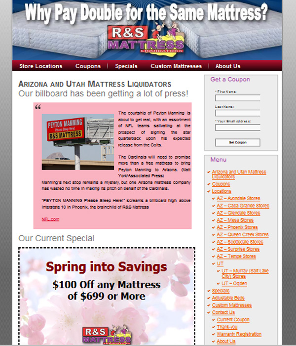 R S Mattress Direct Business Marketing